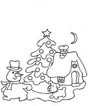 kleurplaat kersttafereeltje