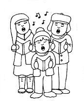 kleurplaat kerstliedjes zingen